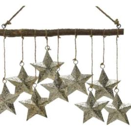 Campanello 9 stelle da appendere oro