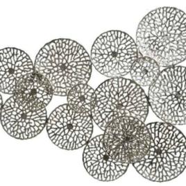 Decorazione parete cerchi silver 132×90 cm
