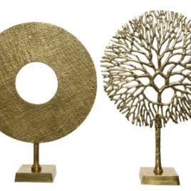 Cerchio-albero della vita oro 35,5x h 51,5 cm