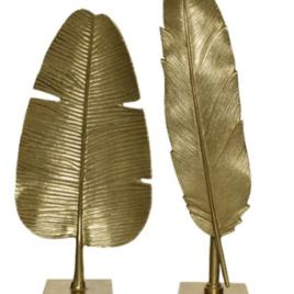 Foglia oro h 45,5 cm