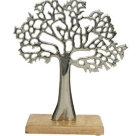Albero silver h 27 cm con piedistallo