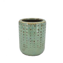 Caspo' verde acqua fori d.15xh18,5