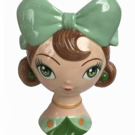 Bambina caspo' c.fiocco verde
